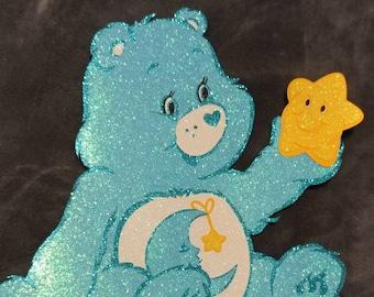Bedtime Care bear glitter Care-A-lot cutout centerpiece