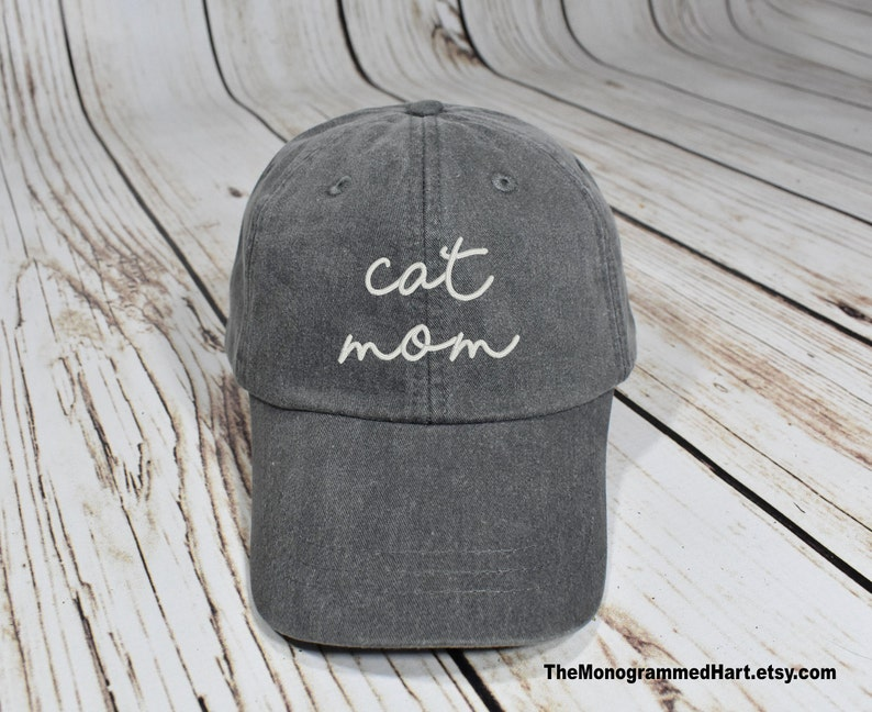 Cat Mom Hat  Cat Lady Hat  Cat Mama Hat  Cat Gift  Cat image 0