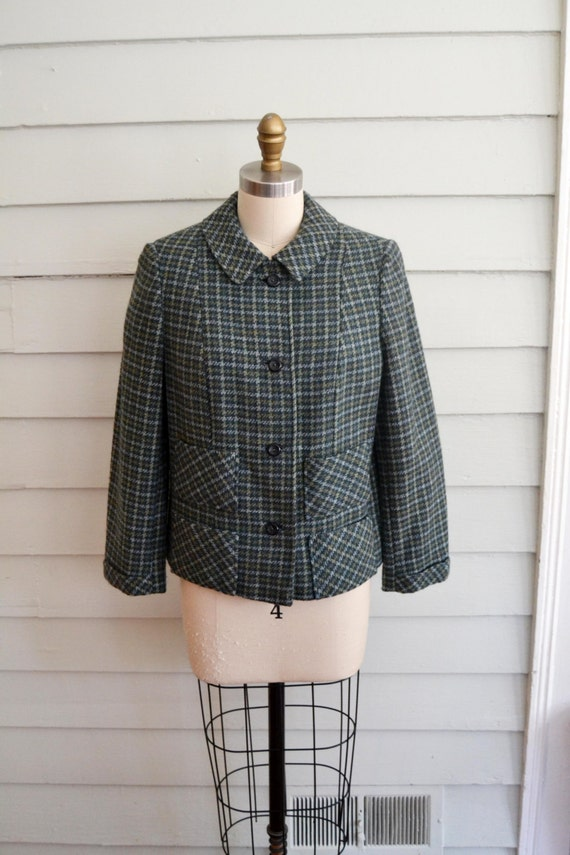 vintage 1950s or 1960s wool jacket / Small vintage