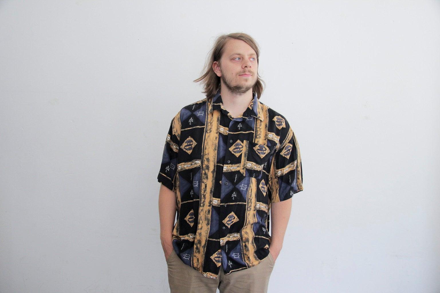 172 Cm 50 Kg vintage 90s ethno shirt xxl