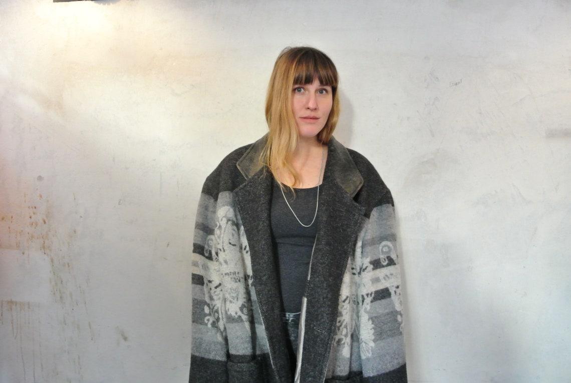 Vintage Wool Coat - Oversized