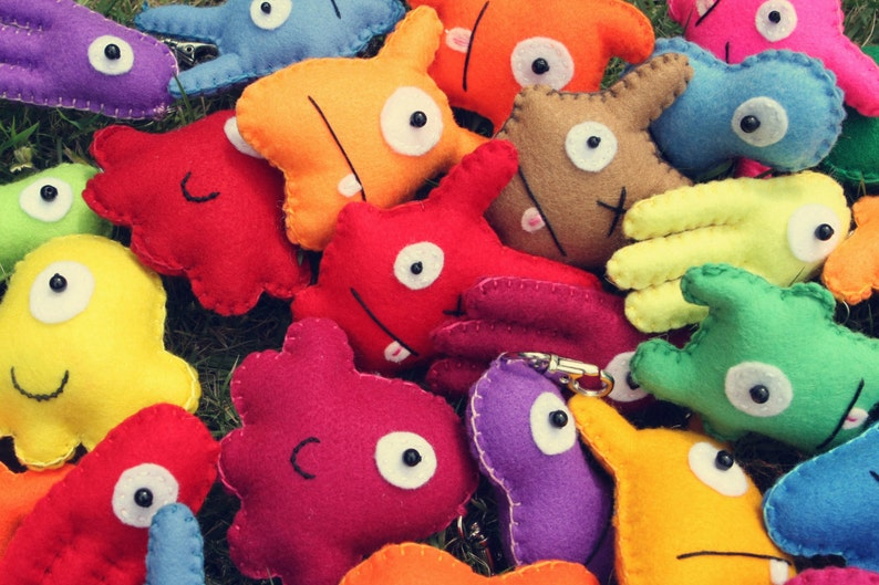 Mini Felt Monster Plush Keyrings & Party Favors by BABUA  5 image 0