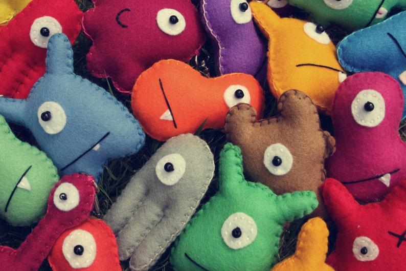 Mini Felt Monster Plush Toys & Party Favors by BABUA  5 image 0