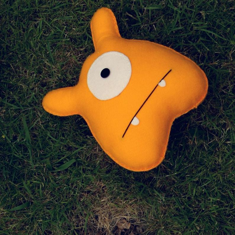 Jack  Yellow Felt Monster Soft Toy image 0