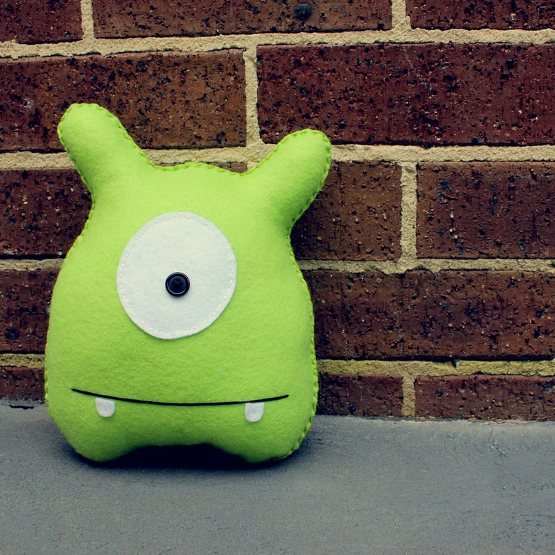 Jack   Green Felt Monster Soft Toy image 0