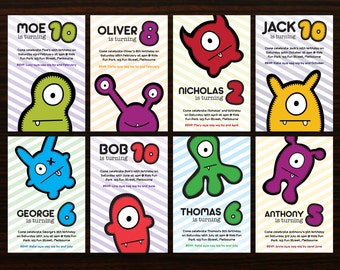 Customized Printable Monster Party Invite by BABUA - Print at Home