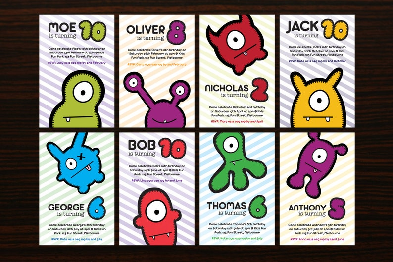 Customized Printable Monster Party Invite by BABUA  Print at image 0