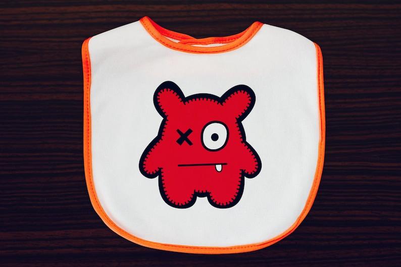 Babua Baby Bib  'Peter' Red image 0