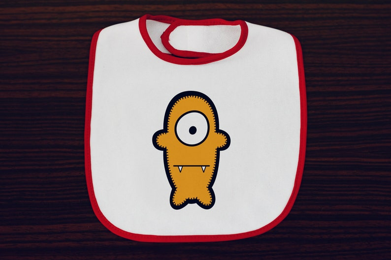 Babua Baby Bib  'Bob' Orange image 0