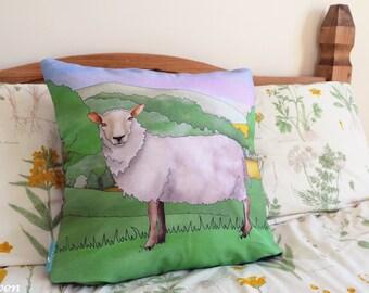 Sheep Decorative Throw CushionCushion Cover, Throw Cushion, Pillow, Decorative Cushion, Sheep Gift