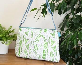 Ferns Handbag, Cross Body Bag, Shoulder Bag, Floral Bag, Floral Gift