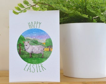 Sheep Easter Card, Greeting Card, Easter Card, Happy Easter Card, Spring Gift