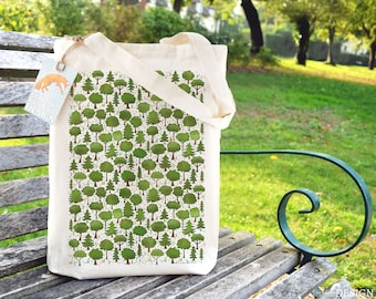 Woodland Trees Tote Bag, Reusable Shopper Bag, Cotton Tote, Ethically  Produced Shopping Bag, Eco Tote Bag, Stocking Filler b500ae8217
