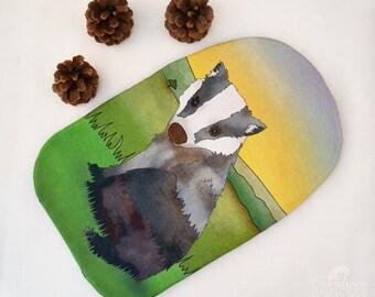 Badger Hot Water Bottle Cover Christmas Gift, Badger Gift