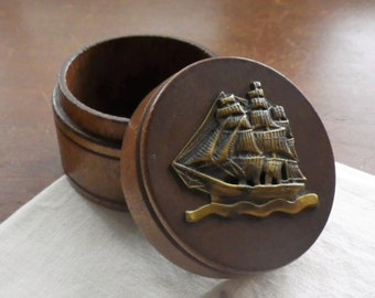 nautical stash box pill box for him. vintage sailing pill case travel pillbox Yacht pill box boat vitamin storage