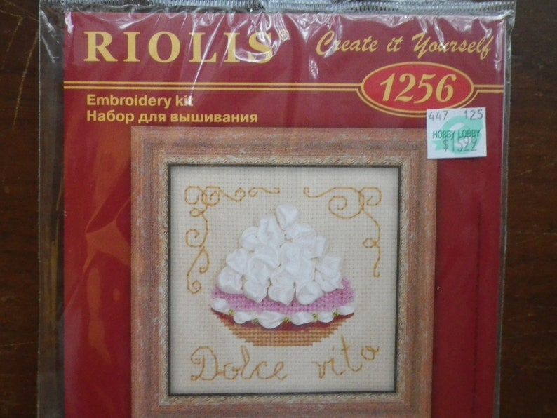 NIP Dolce Vita - Embroidery Kit - Cream Pie Dessert RIOLIS 4