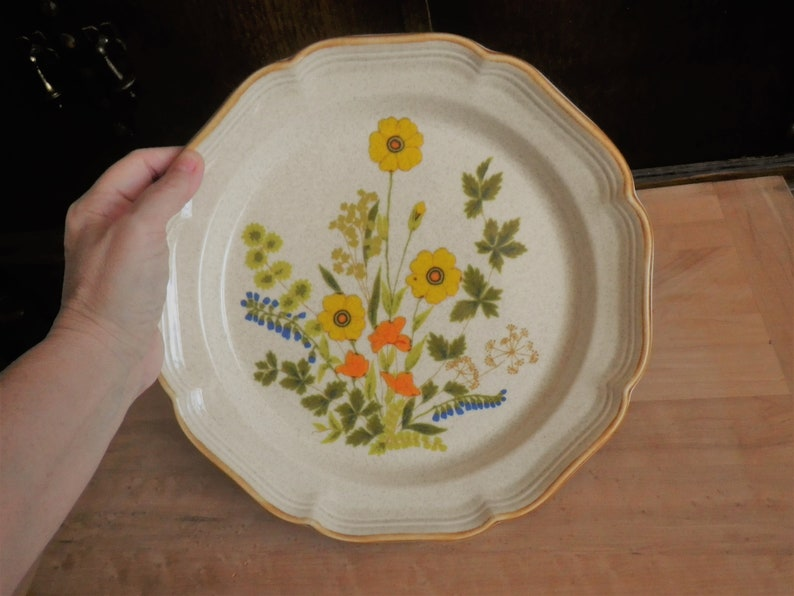 2 Dinner Plates Garden Club Pattern Mikasa Fresh Floral Replacement Table Setting Dining Flower Fest Design Made in Japan Gift Dish Vintag