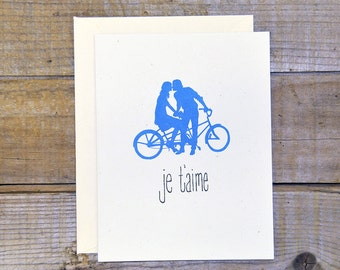 C-0810 Je T'aime Card (Blue)