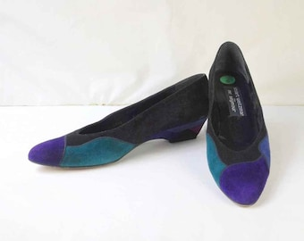 fa5055b6895c STUART WEITZMAN for Mr. Seymour Multicolor Suede Pumps Size 8S 8N 8AA