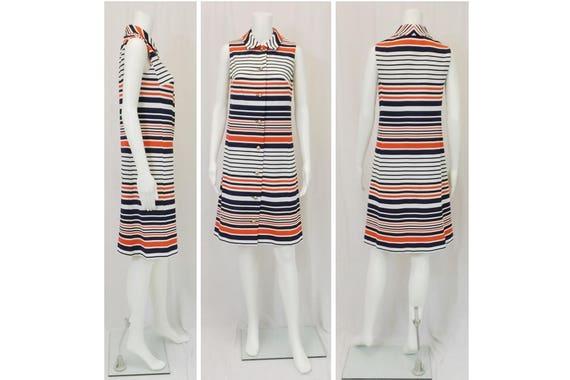 1960's NANCY GREER Sleeveless Dress Size Medium M