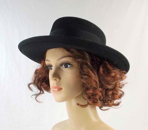 BETMAR Black Wool Fedora