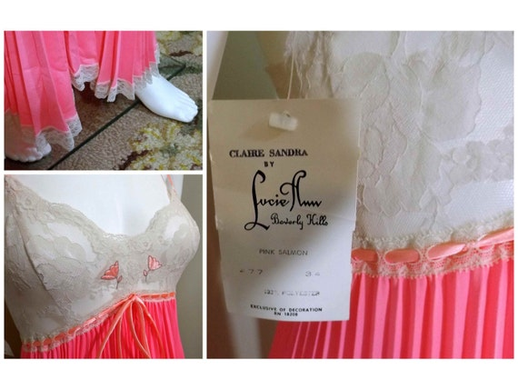 Claire Sandra by LUCIE ANN Salmon Pink Accordion … - image 5