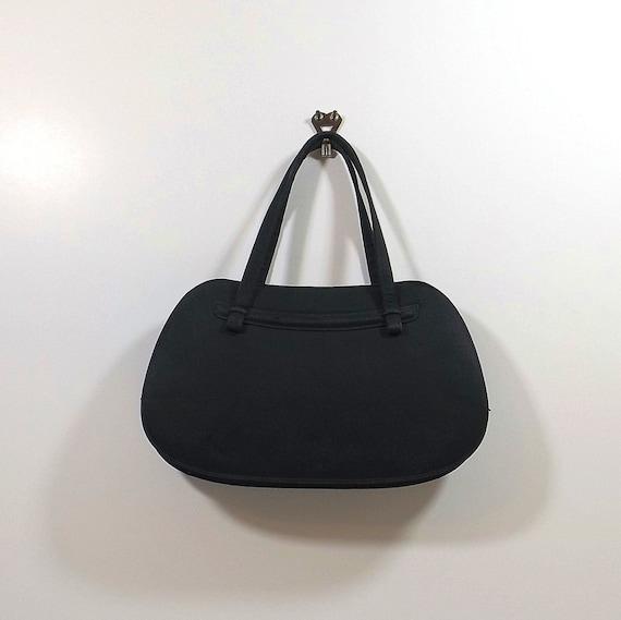 NETTIE ROSENSTEIN Black Silk Handbag