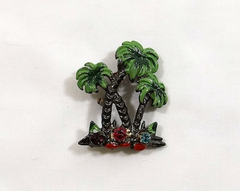 Tropical Palm Trees Brooch