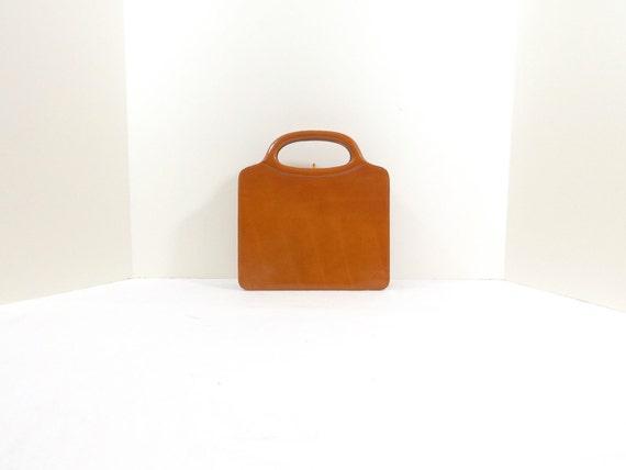 NETTIE ROSENSTEIN Cognac Patent Leather Handbag