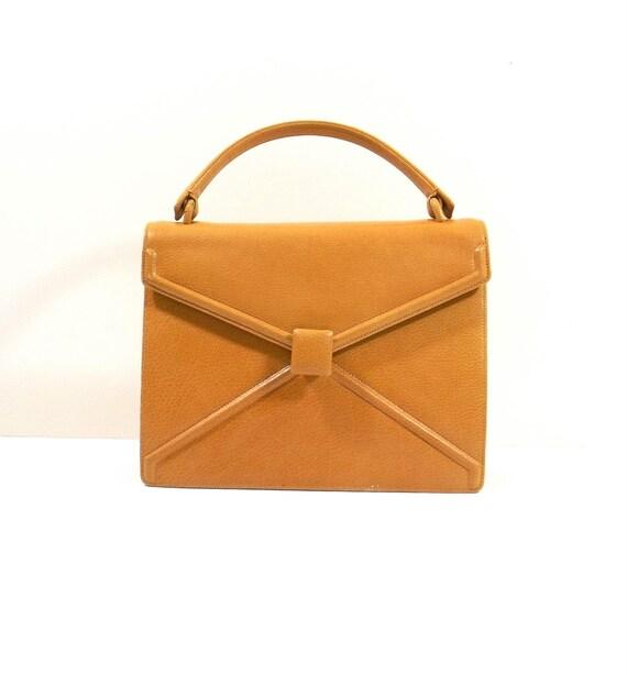NETTIE ROSENSTEIN Camel Leather Handbag