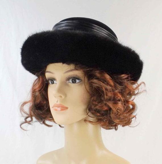 Black Velvet and Mink Breton Hat