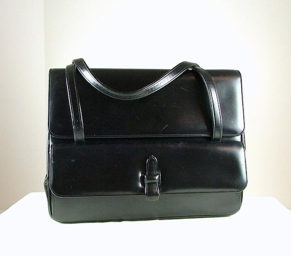 NETTIE ROSENSTEIN Black Satchel Handbag