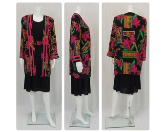LADY CAROL Dress and Long Jacket Size 12/14 Large