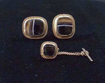 DANTE Cuff Link and Tie Tack Set