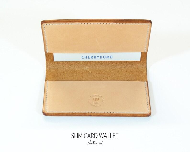 dccddb873b08 Natural Leather Card Holder Card Wallet Front Pocket Wallet
