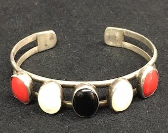 Vintage Sterling Silver American South West Indian Bracelet