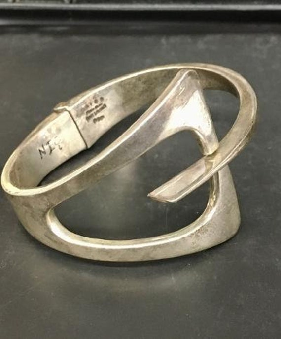 Gorgeous Sterling Silver Mid Century Modern Mexica