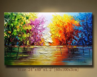 acrylic paintings etsy