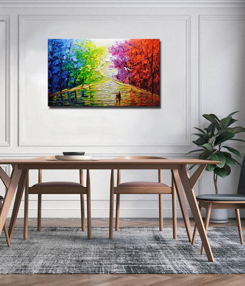 Un nouveau type de peinture abstraite de mur art contemporain   Etsy