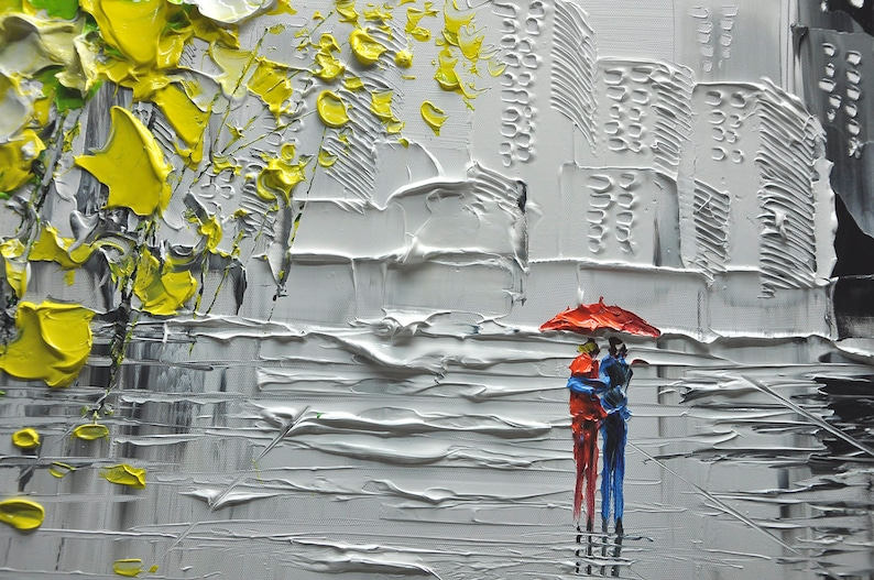 Un nouveau type de mur peinture abstraite art mural   Etsy