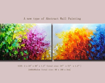 contemporary wall art  Modern Textured Painting,Impasto  Landscape  Textured Modern Palette Knife Painting,Painting on Canvas. Chen new70