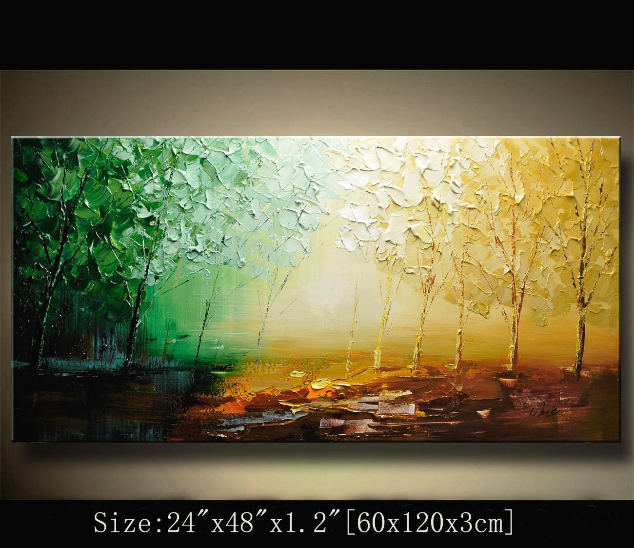 arbre color de contemporain wall art tableaux peinture etsy. Black Bedroom Furniture Sets. Home Design Ideas