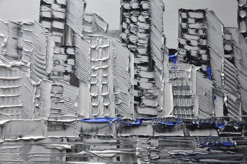 Un nouveau type de peinture abstraite de mur peinture noire | Etsy