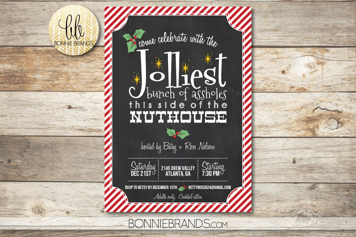 National lampoons christmas vacation party invitations