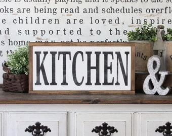 Kitchen Sign, Rustic Sign, Home Decor, Wood Sign, Farmhouse Decor, Wood Framed Art