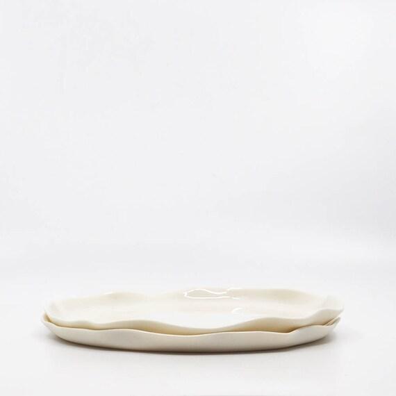 Porzellan Teller Set 2 Keramische Platten Moderne Geschirr | Etsy