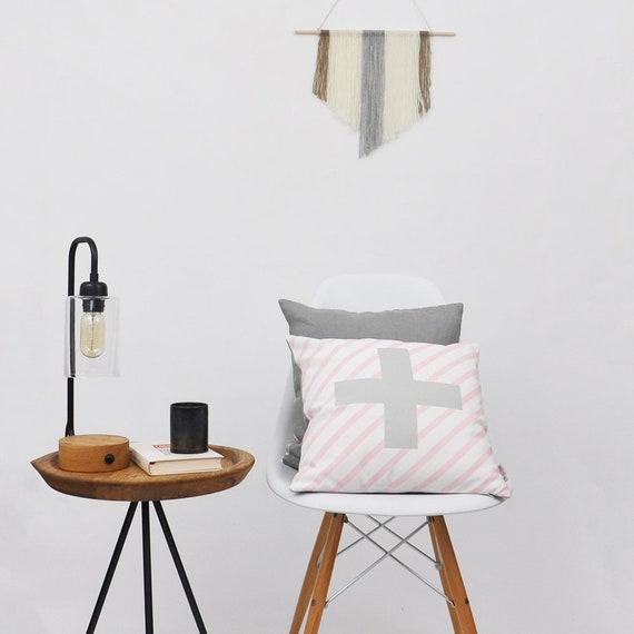 Cross Print Decorative Pillows Modern Throw Pillow Etsy