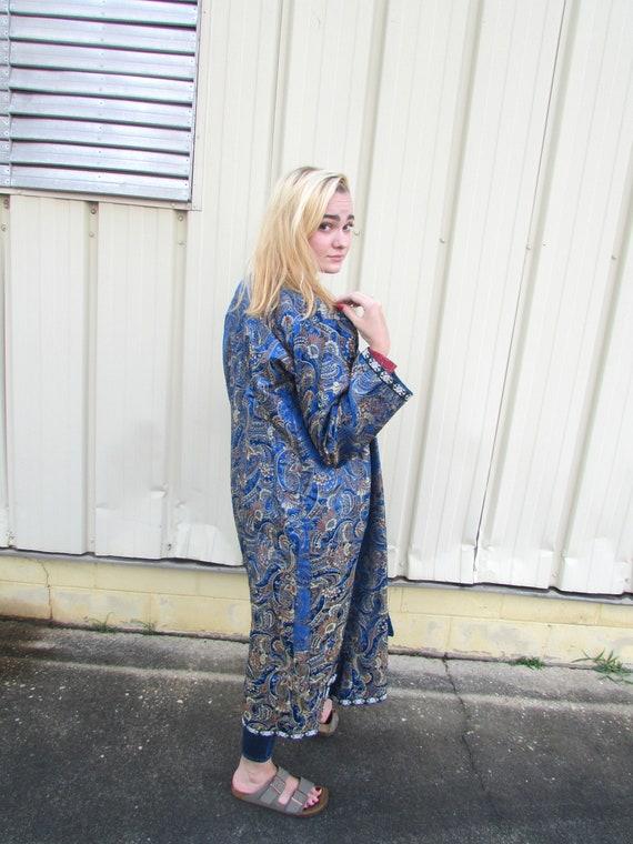 Blue Silk Robe - image 7