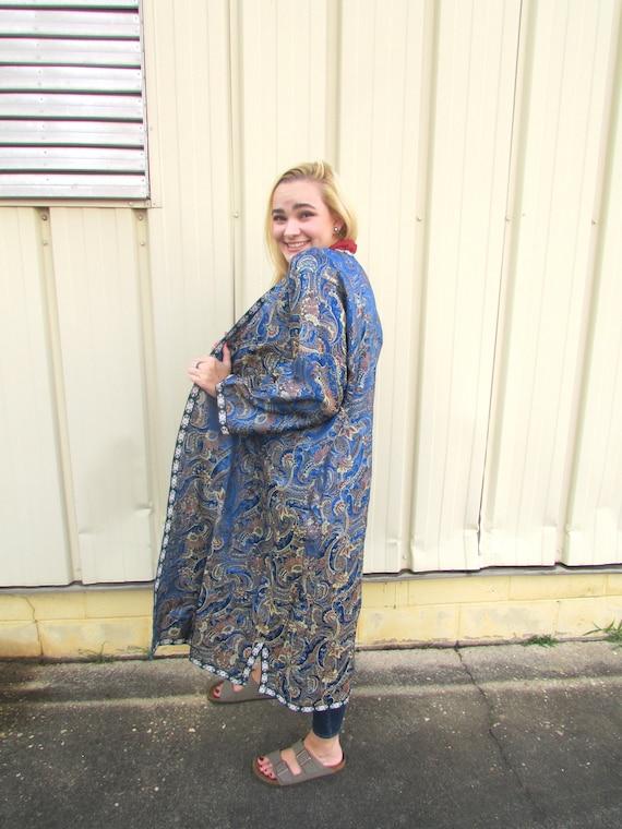 Blue Silk Robe - image 3