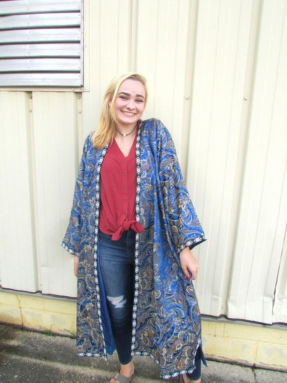 Blue Silk Robe - image 2